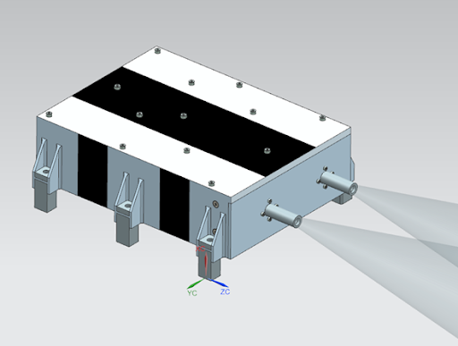 Rendering of XFM instrument for Lagrange missions.