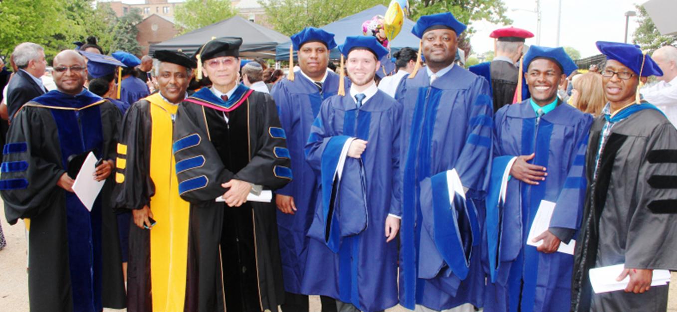 Image of students graduating